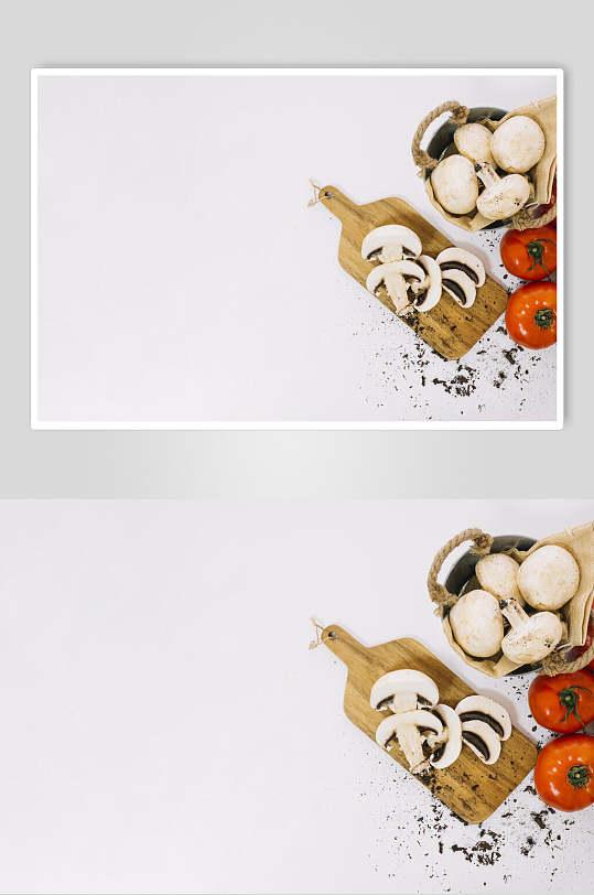 白色背景的蘑菇食材-众图网