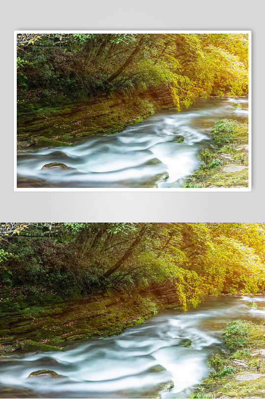 自然风景流淌的溪水-众图网
