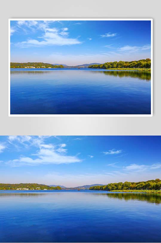 自然风景碧蓝的湖水-众图网