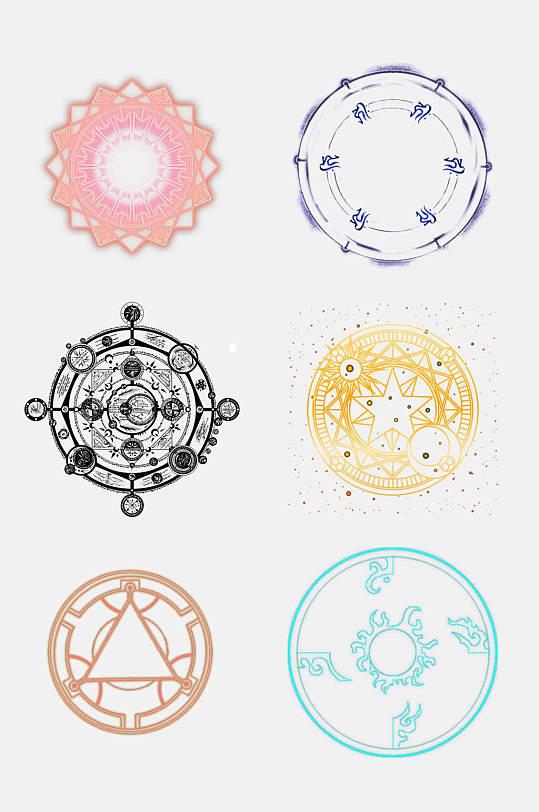 魔法阵塔罗牌变形魔法阵星矢设计元素16-众图网