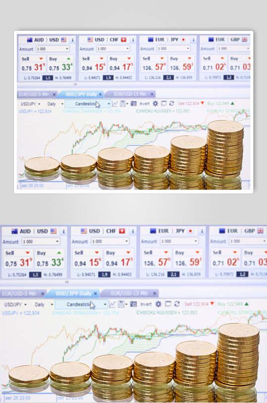 简约金融股票期货走势图高清图片-众图网