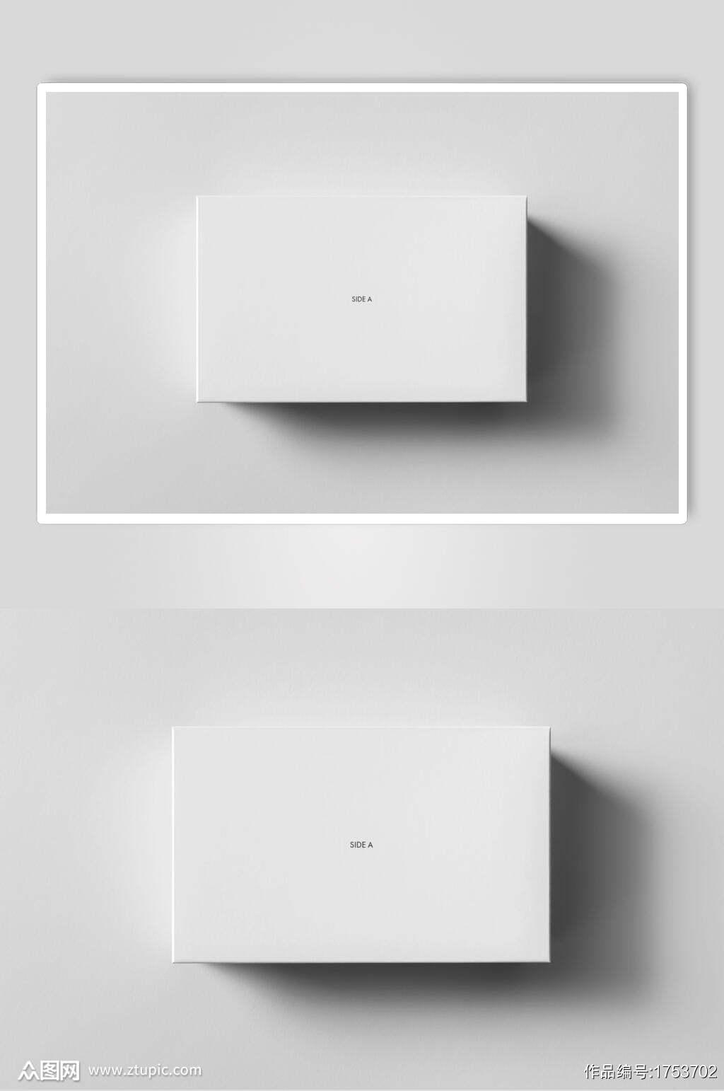 极简精装礼盒LOGO显示样机效果图素材