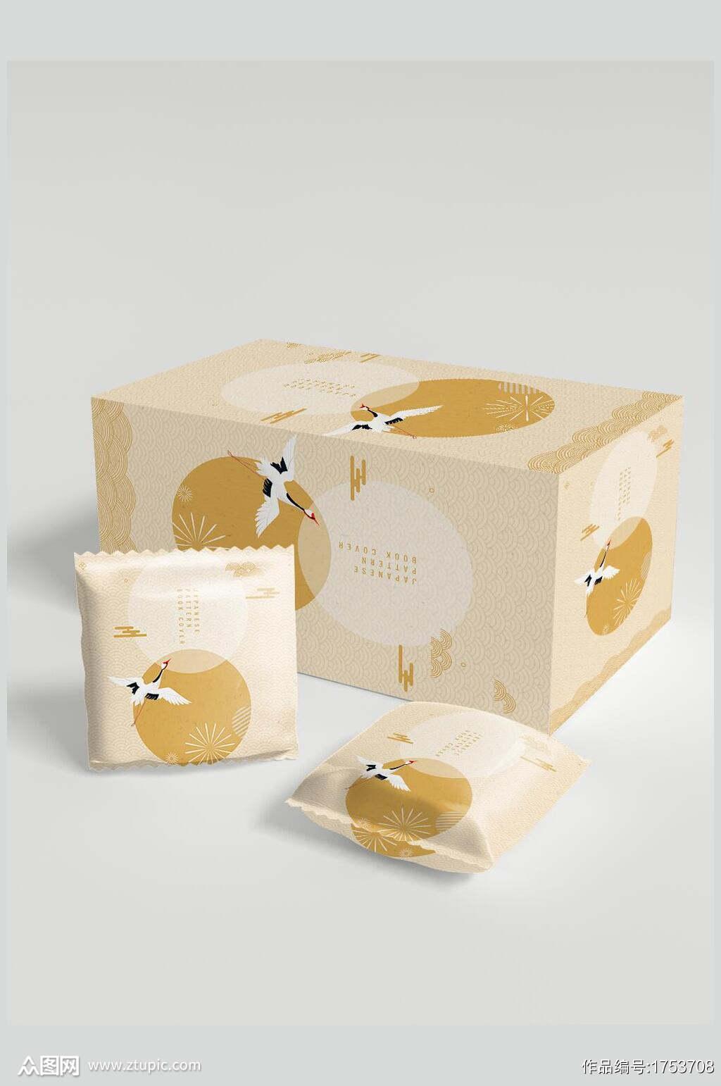 清新食品大包装小包装样机贴图效果图素材