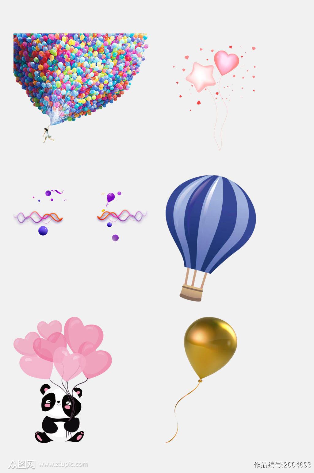 创意气球免抠元素素材