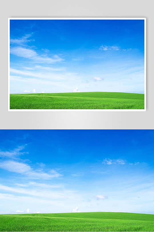 草地天空风景图片蓝天白云草地摄影图