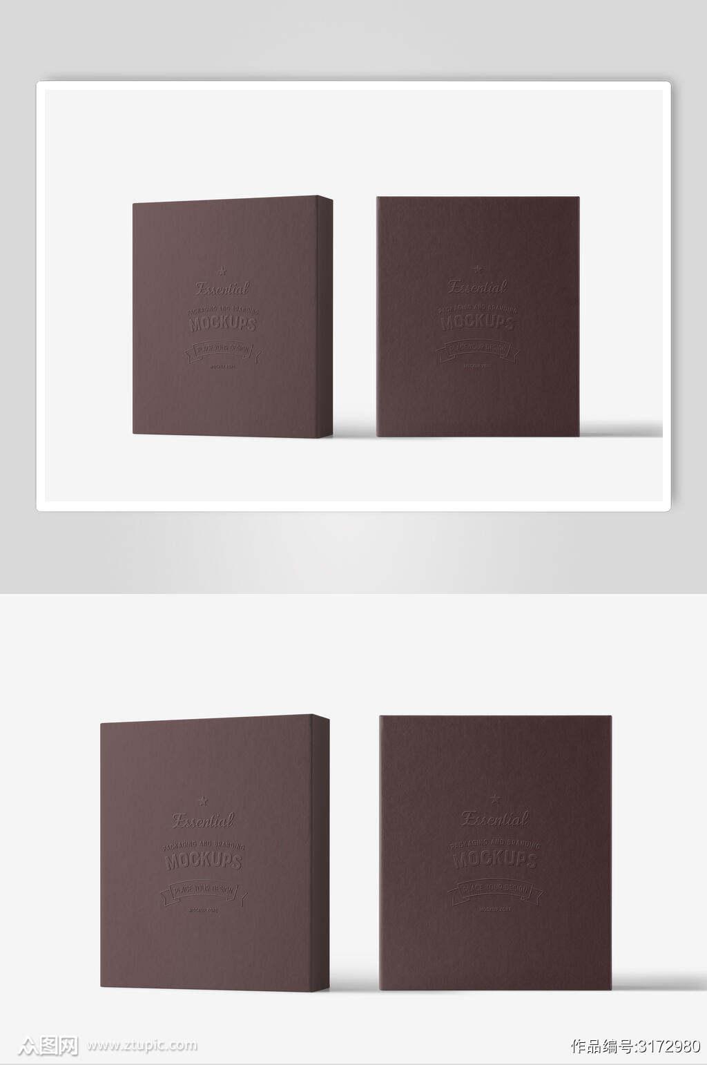 复古笔记本低调简约文创样机素材