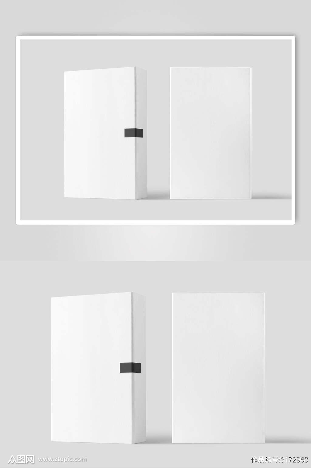白色纸盒低调简约文创样机素材