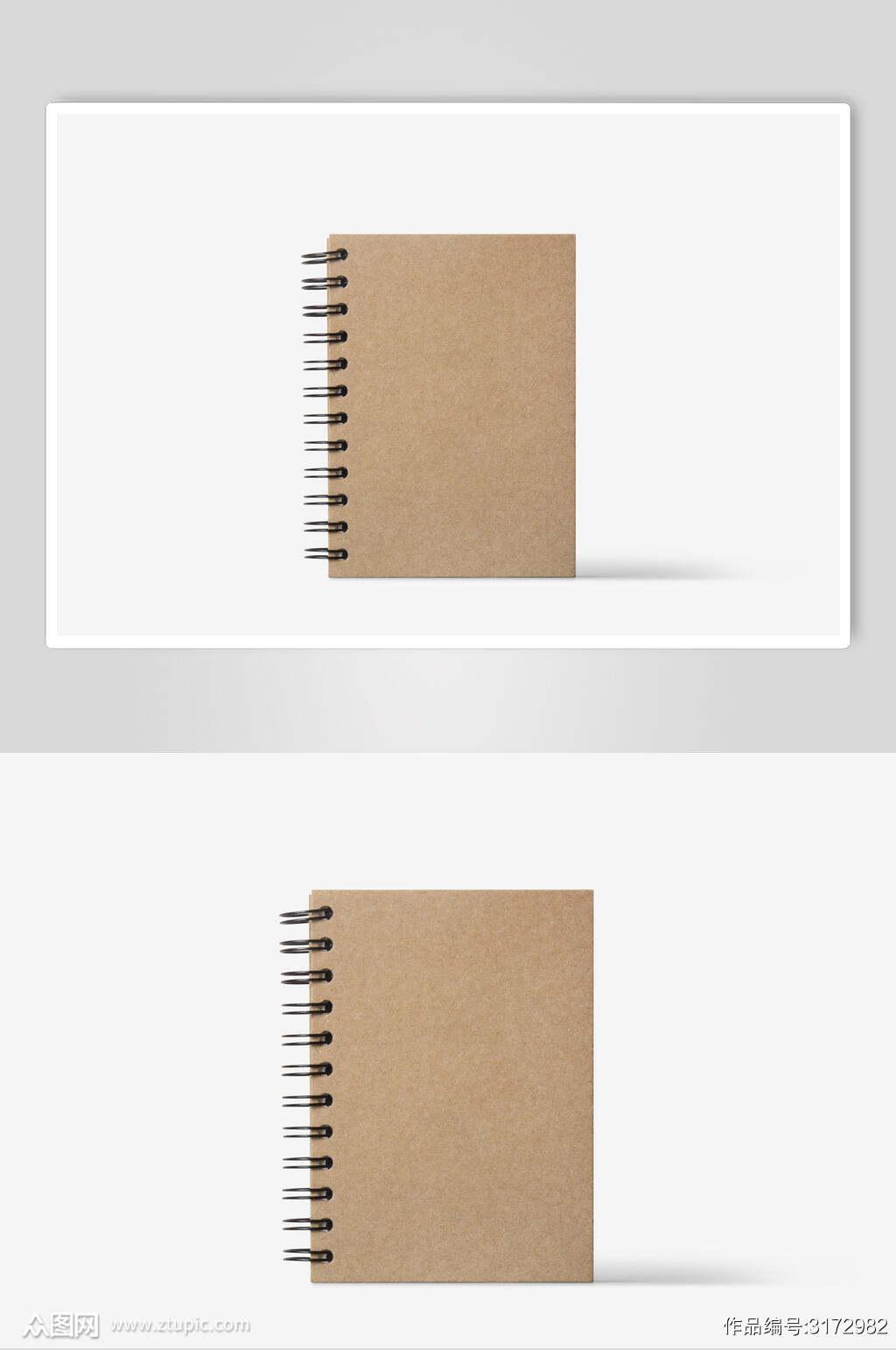 打孔笔记本低调简约文创样机素材