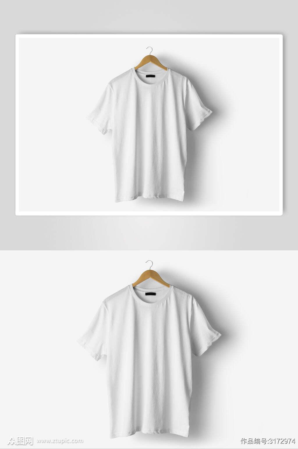 低调简约文创T恤样机素材