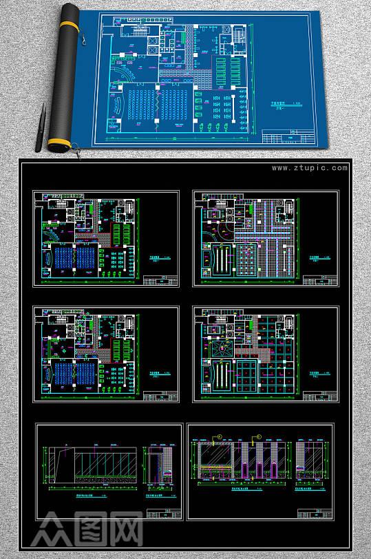 原创全套健身会所CAD施工图-众图网
