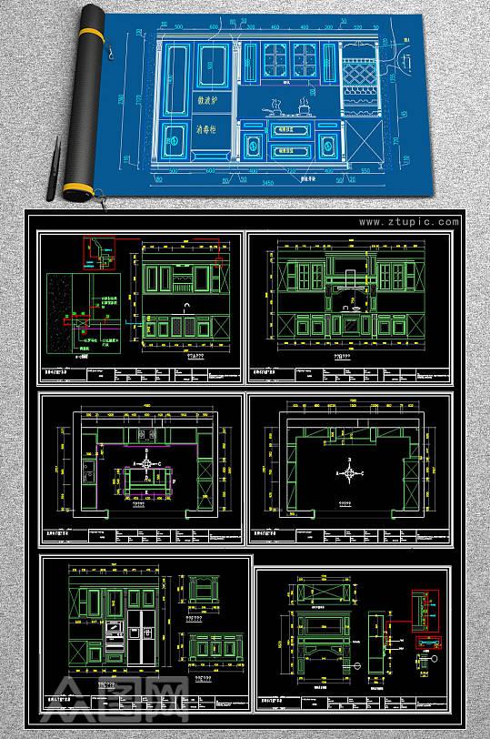 2019橱柜CAD图库-众图网