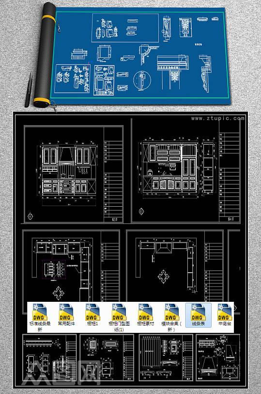 2019橱柜配件CAD图集-众图网