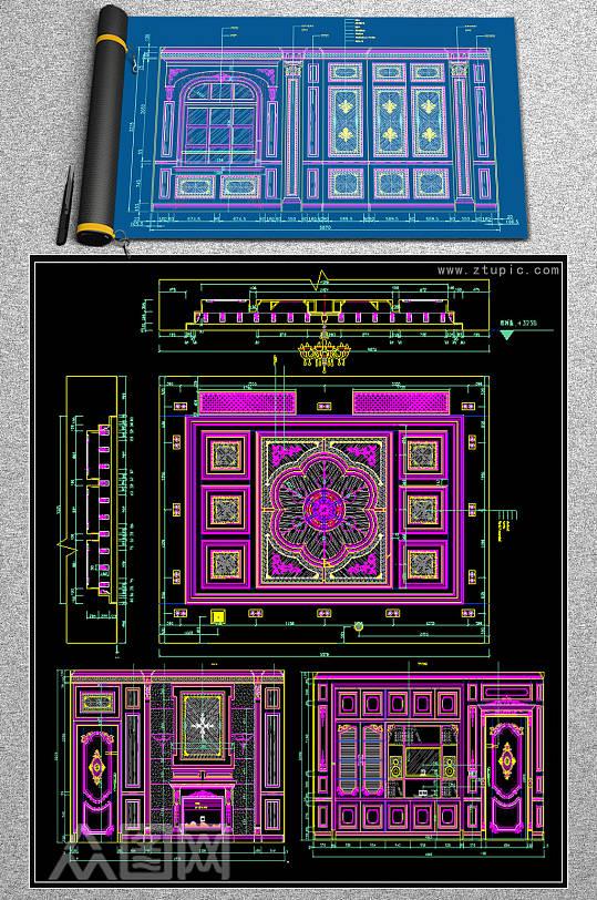 展厅方案CAD图纸-众图网