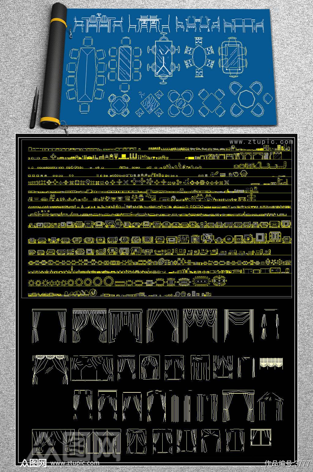 原创工装图库CAD图库素材