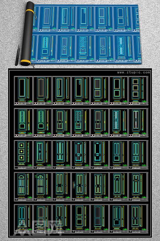 2019木门CAD素材-众图网