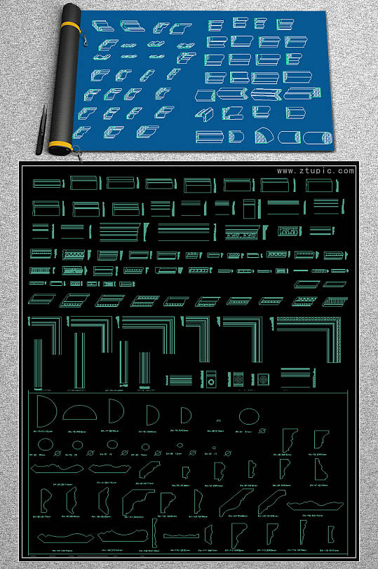 2019线条CAD素材-众图网