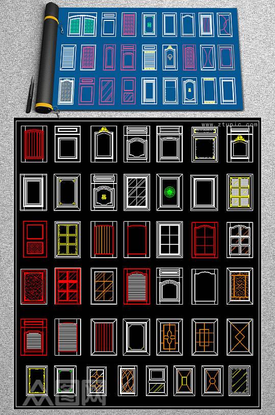 现代大门CAD素材-众图网