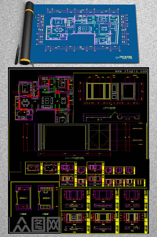 原创广场全套CAD施工图-众图网