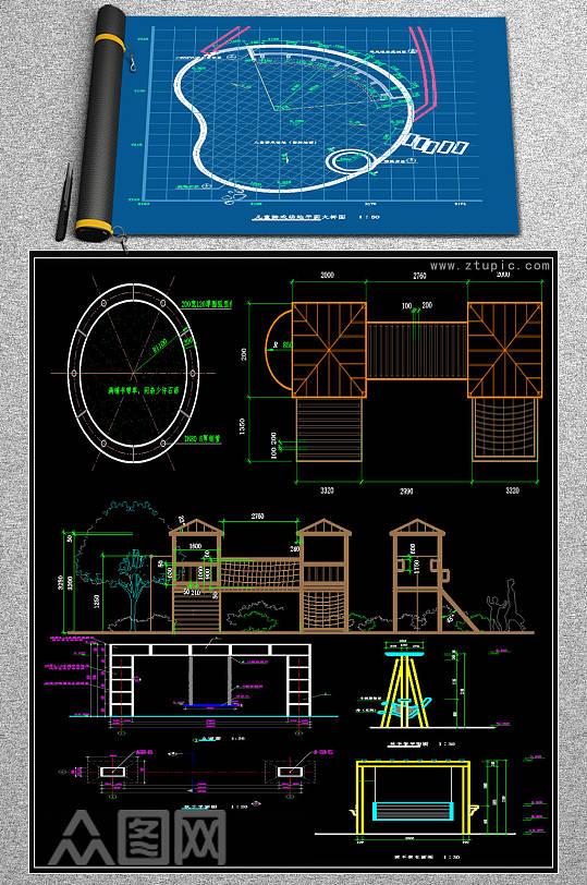 2019全套时尚儿童游乐园CAD-众图网
