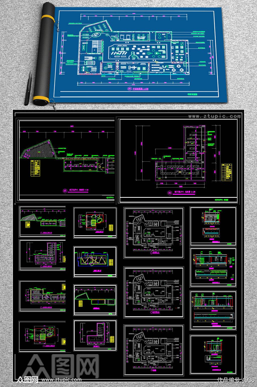 原创全套服装店CAD施工图素材