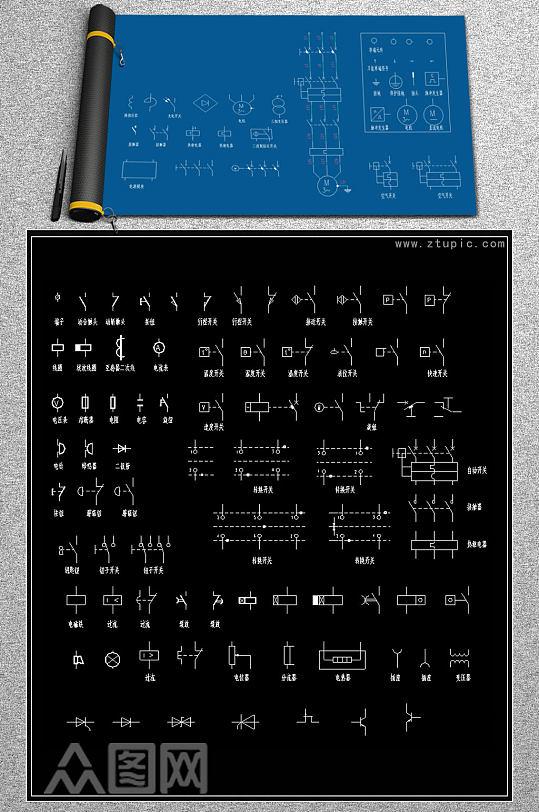 常用CAD电气制图标准图形-众图网