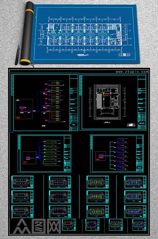 原创全套精品大夏酒店CAD施工图-众图网