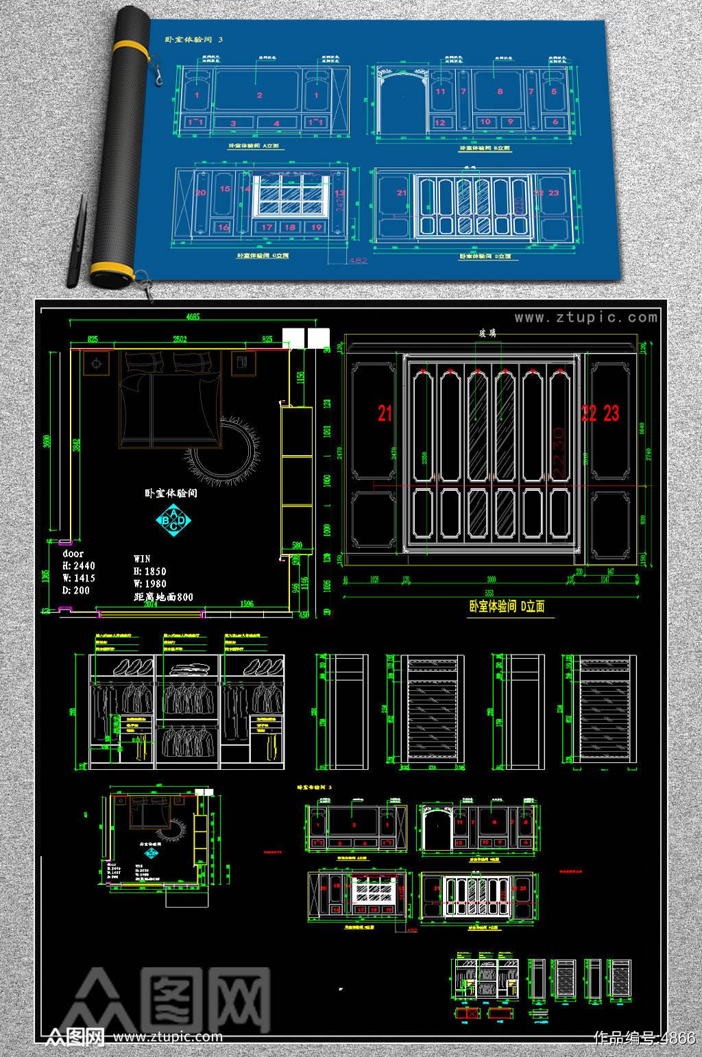 原创法式护墙板欧式护墙板CAD素材