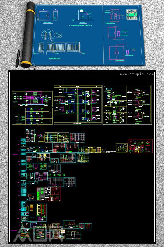 弱电自动智能化系统图块合集二-众图网