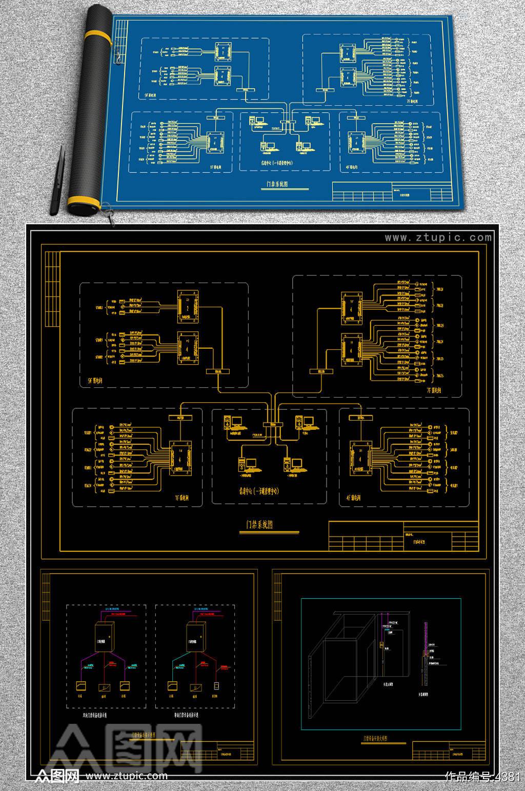 门禁系统CAD素材素材