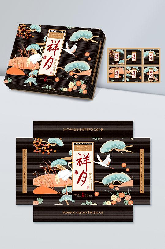 原创复古中式中秋月饼盒包装设计-众图网