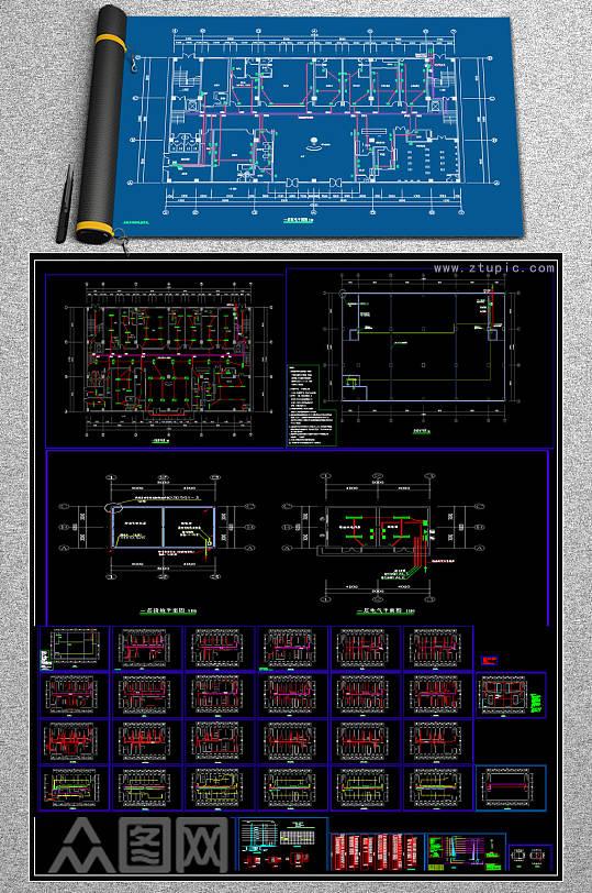 原创CAD医院门诊楼弱电智能化系统平面图-众图网
