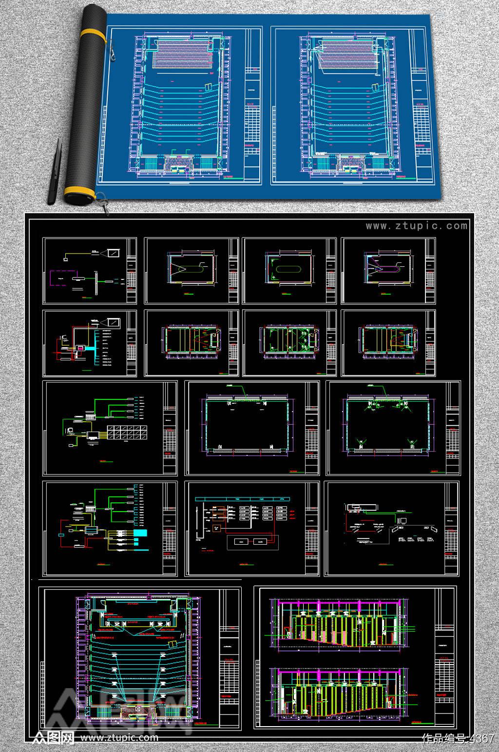 音响系统CAD图纸素材