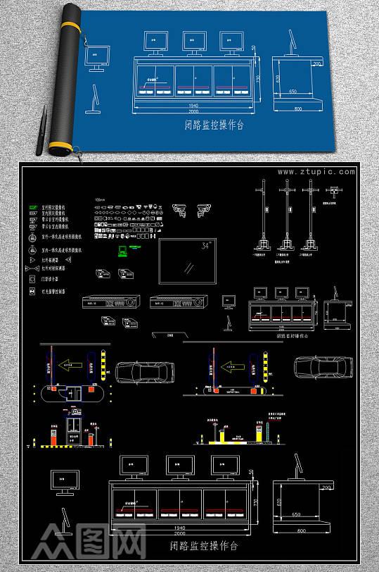 摄像头CAD图块-众图网