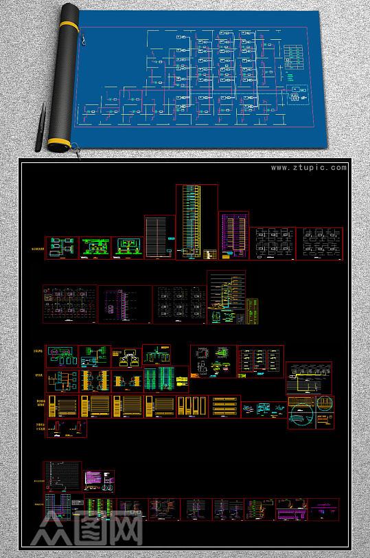 原创弱电智能化图库系统图块CAD-众图网