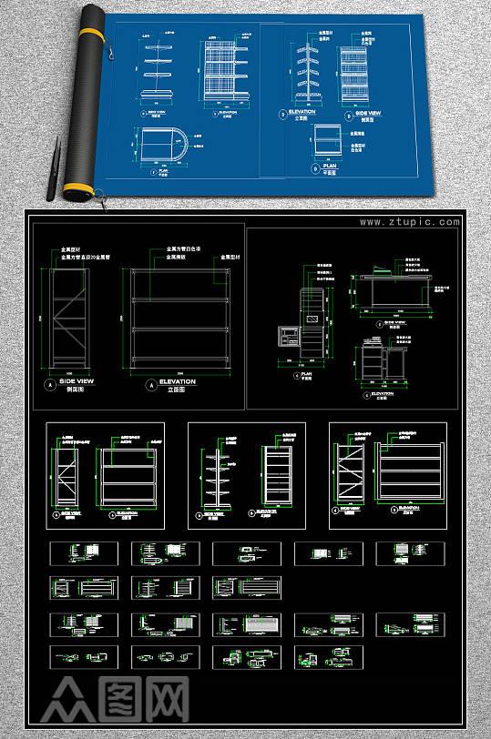 原创全套厂房CAD施工图效果图-众图网