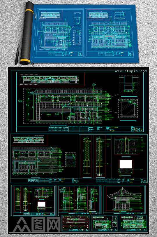 原创精致菜馆CAD施工图-众图网