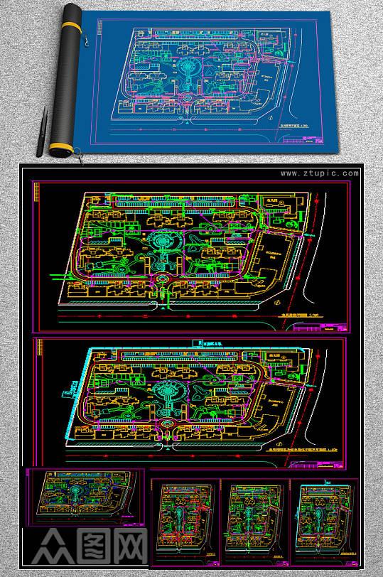 原创室外弱电及安防设计施工图-众图网