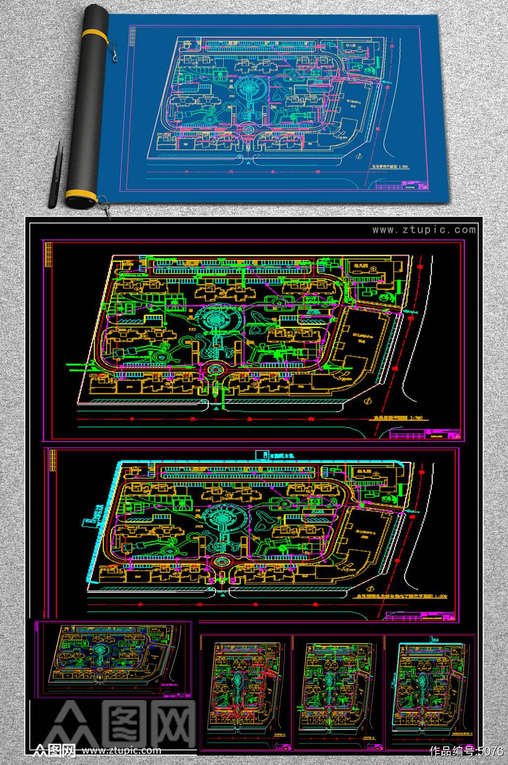 原创室外弱电及安防设计施工图素材