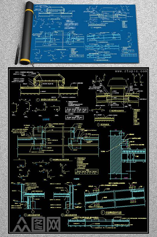 2019钢结构CAD图块-众图网
