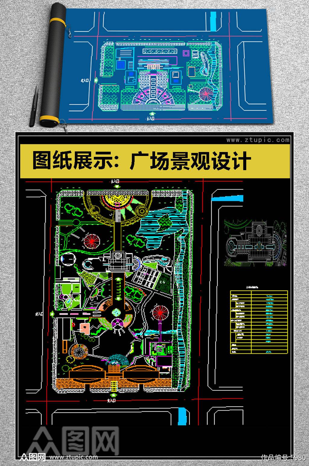 2019超全广场景观设计CAD素材素材