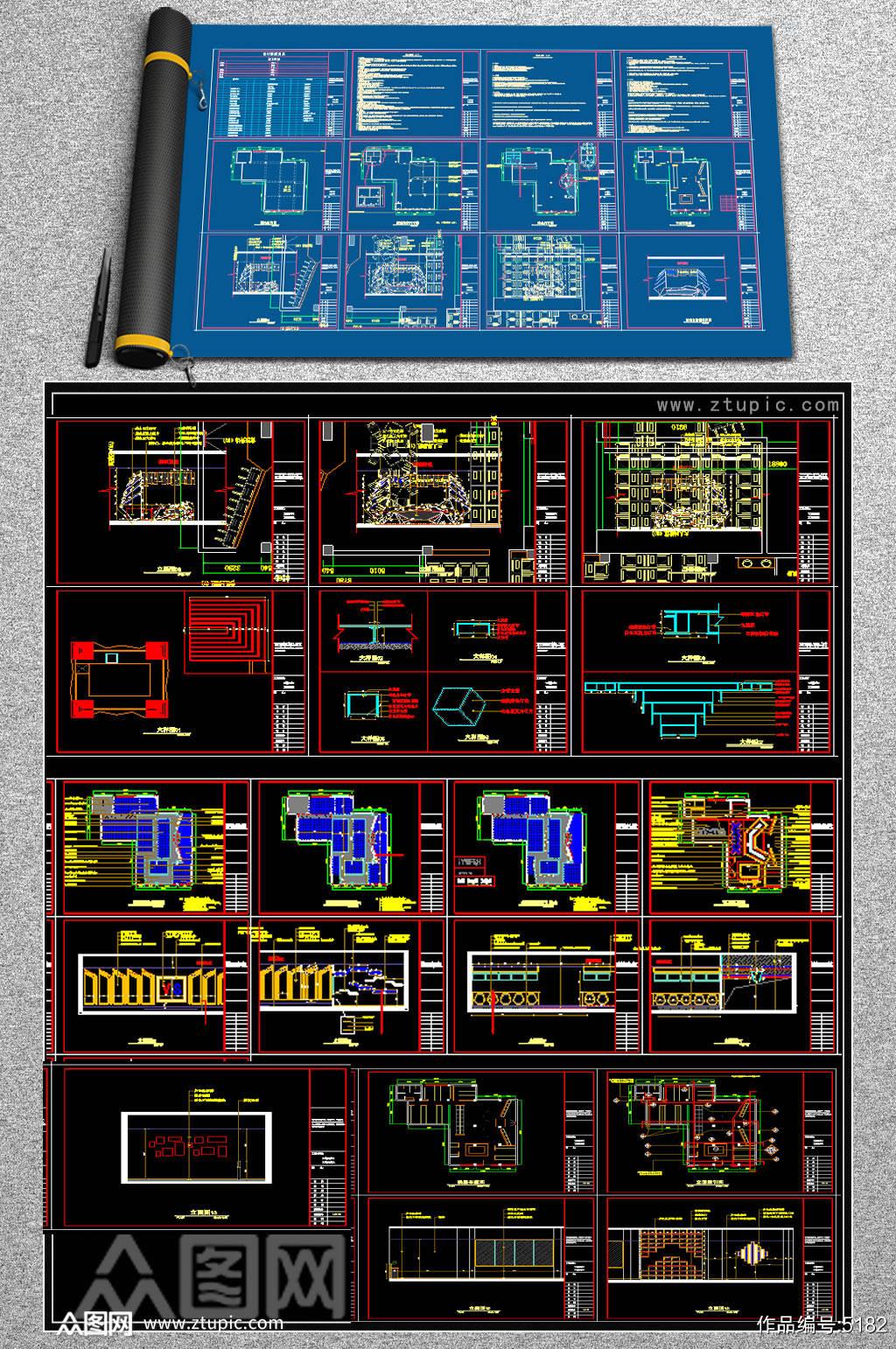 原创全套网吧CAD施工图素材