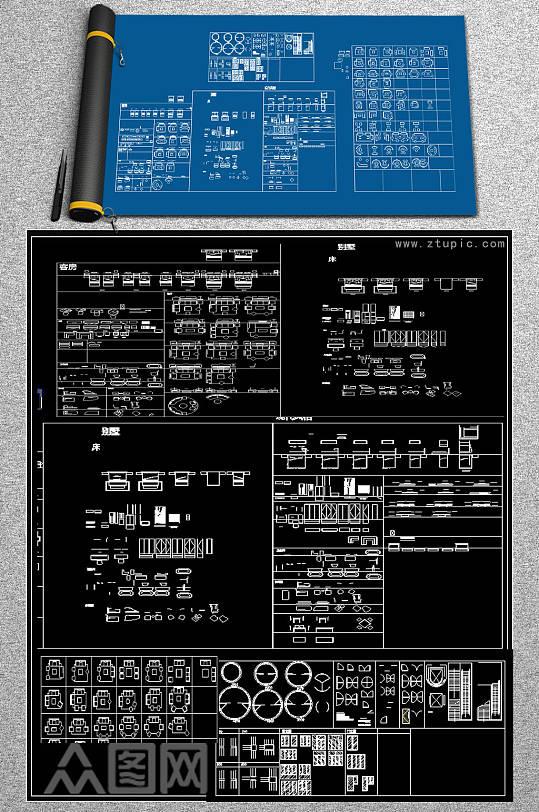 原创2019新颖别致的CAD动态图库-众图网
