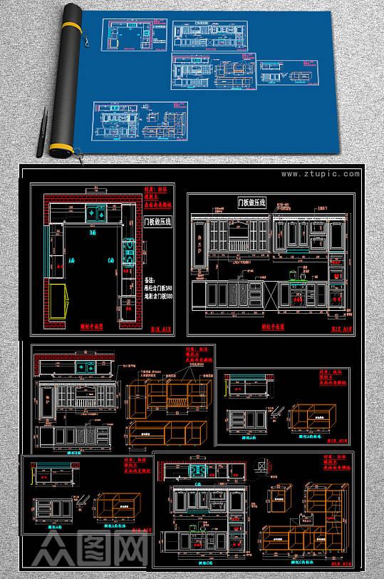 橱柜设计施工图-众图网