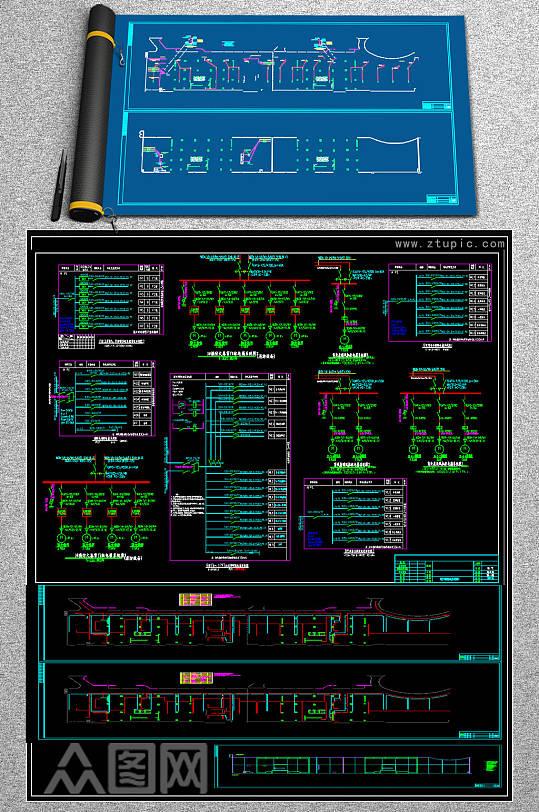 原创公寓电气全套CAD图库-众图网