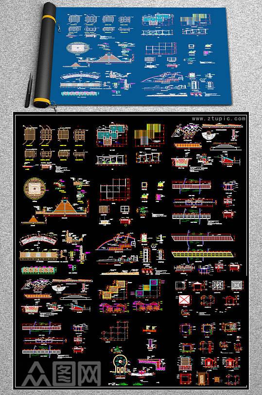 精品经典园林CAD素材-众图网