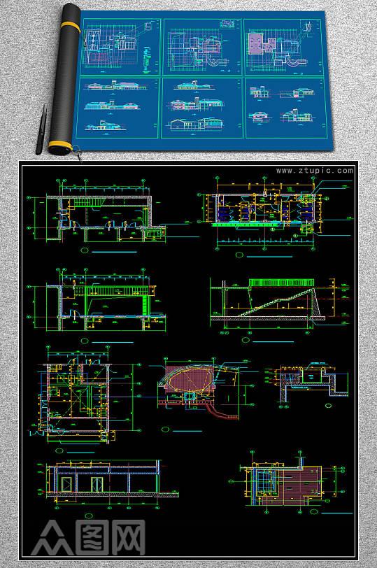 2019会所设计图CAD素材-众图网