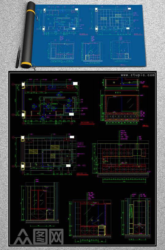 最新厨房CAD图纸合集-众图网