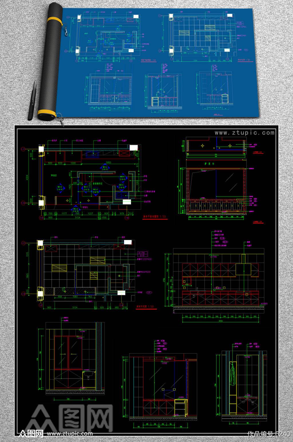 最新厨房CAD图纸合集素材
