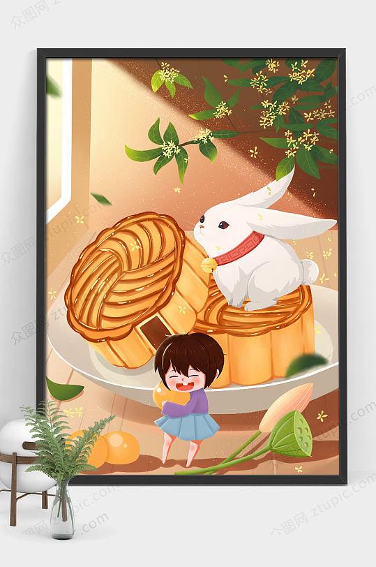 中秋节插画-众图网