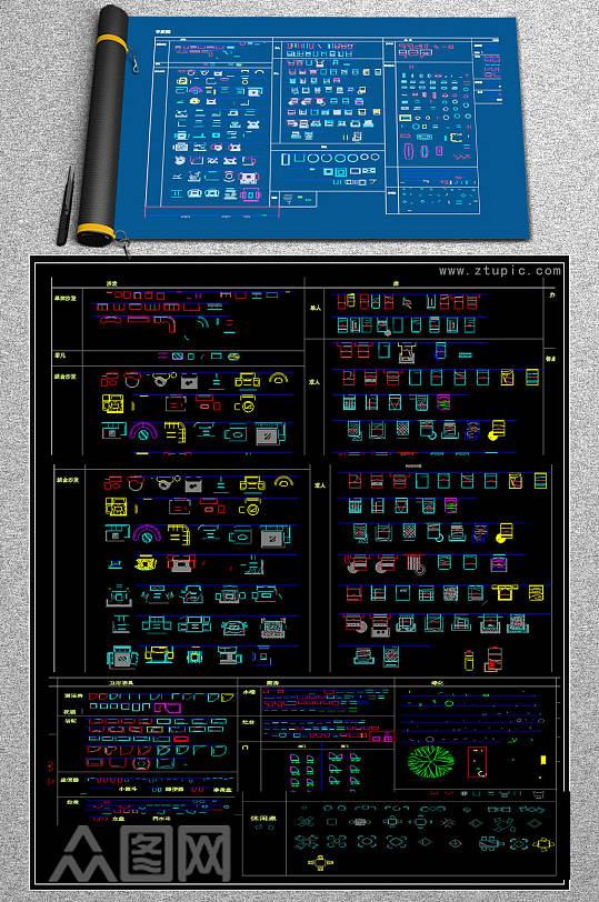 原创百款沙发生产加工CAD图纸-众图网